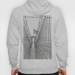 Brooklyn Bridge Cables Abstract Hoody