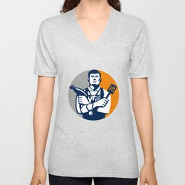 Jack of All Trades Circle Retro Unisex V-Neck