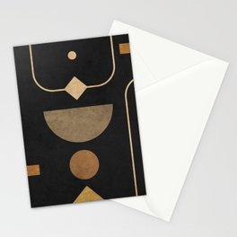 Subtle Opulence - Minimal Geometric Abstract 2 Stationery Cards
