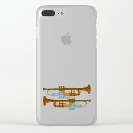 Trumpets Clear iPhone Case