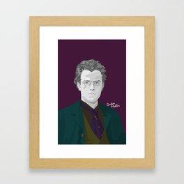 Gustav Mahler (Wine Background) Framed Art Print
