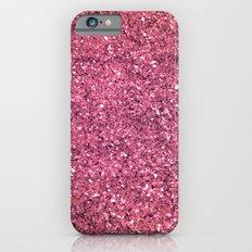 PINK GLITTER iPhone 6 Slim Case