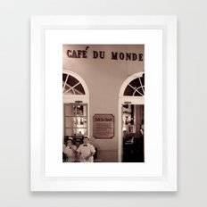 Cafe duMonde. Framed Art Print
