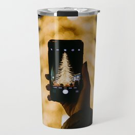 The Golden Christmas Tree (Color) Travel Mug