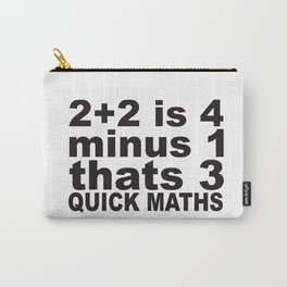 Quick Maths Carry-All Pouch