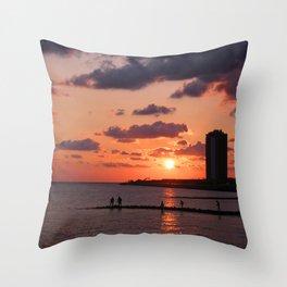 Moody Sun Throw Pillow