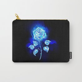 Burning Blue Rose Carry-All Pouch