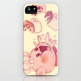 Kirby Coffee iPhone Case