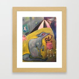 Fox and Hookah Framed Art Print