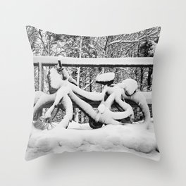 The Old Bicycle Throw Pillow