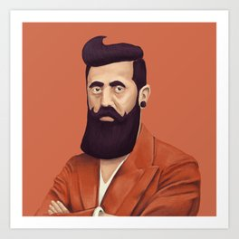 The Israeli Hipster leaders - Binyamin Ze'ev Herzl Art Print