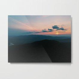 Fire Tower Sunset Metal Print