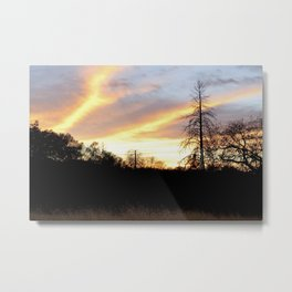 Fire in the sky. Metal Print