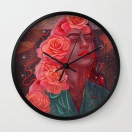 Flower spell Wall Clock