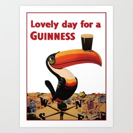 Advertising Vintage Poster - Lovely Day for a Guinness - Beer - Drinks Advertising Vintage Poster Art Print