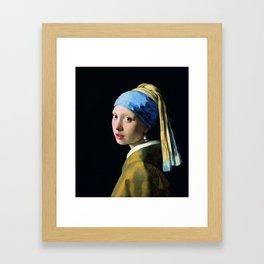 Jan Vermeer Girl With A Pearl Earring Baroque Art Framed Art Print