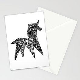 Unicorn Origami Illustration Stationery Cards