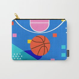 Shot Caller - memphis retro basketball sports athletic art design neon throwback 80s style Carry-All Pouch
