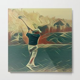 Golfer Metal Print