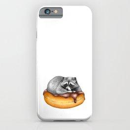 Doughnut Addicted Trash Panda iPhone Case