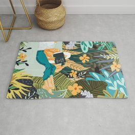 How To Live In The Jungle #illustration #painting Rug
