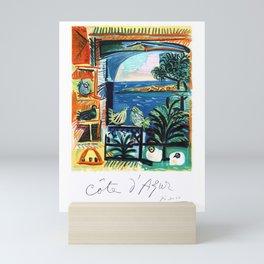 1962 Picasso COTE D'AZURE French Riviera Travel Poster Mini Art Print