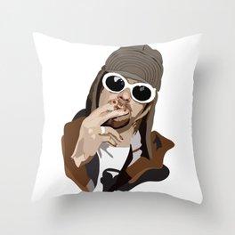 Kurt Smoking Throw Pillow