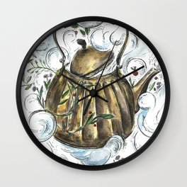 Magical Teapot (that creates berry scented clouds) Wall Clock
