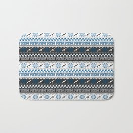 Pew Pew Gun Ugly Christmas Sweater Pattern Bath Mat
