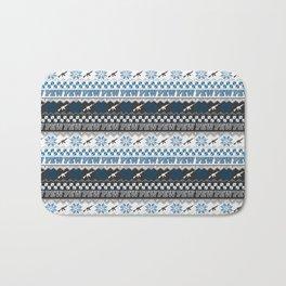 Pew Pew Gun Ugly Christmas Sweater Pattern Bath Mat