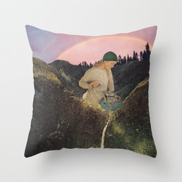 Mineral Spring Throw Pillow