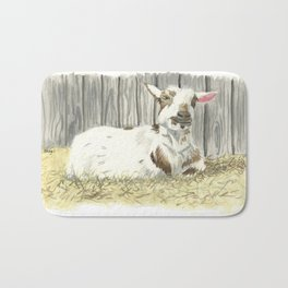 Goat in the Sunshine - Watercolor Bath Mat