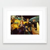 superwholock Framed Art Prints featuring Back to the Mystery of the X-Files by Groovy Bastard