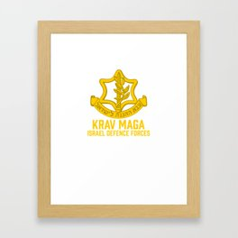 Krav Maga Israel Defense Force - IDF Self Defense System Framed Art Print