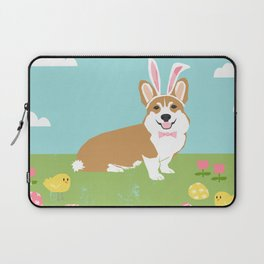 Corgi easter bunny spring dog breed welsh corgis gifts Laptop Sleeve