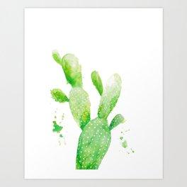 Watercolour Cactus Art Print