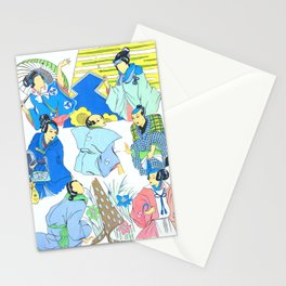 Japan Traditional Feminine Garment, second version Stationery Cards