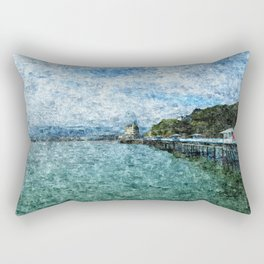 Llandudno Pier in Summer Rectangular Pillow