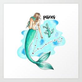 Pisces Mermaid Kunstdrucke