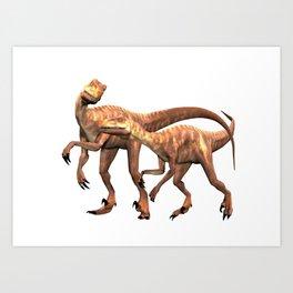 Velociraptor ..  animal design Art Print