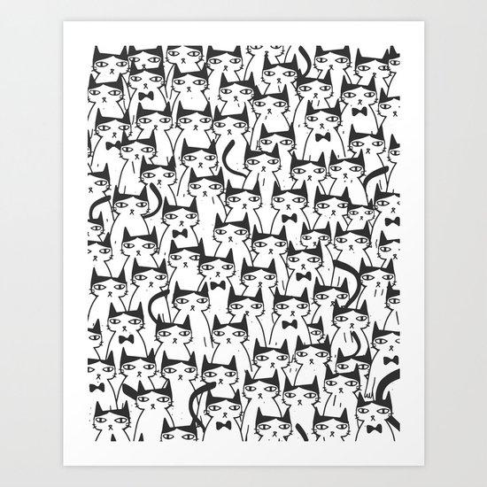 Cats #society6 Decor #buyart Art Print