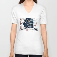 alaska V-neck T-shirts featuring ALASKA by Christiane Engel