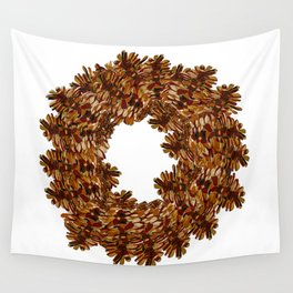Pinecone Wreath Wall Tapestry