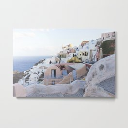 Dusk in Santorini, Greece Metal Print