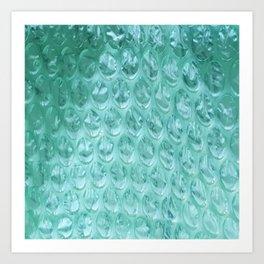 Aqua Bubble Wrap Art Print