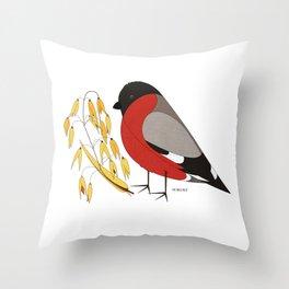 The Bullfinch Throw Pillow