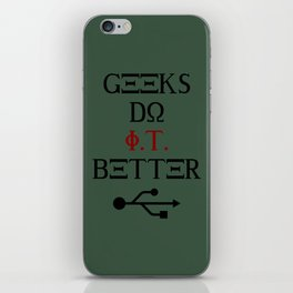Geeks Do It Better iPhone Skin