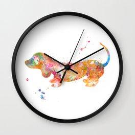 Colorful Dachshund Wall Clock