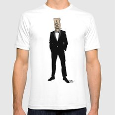 I Am Not Famous Anymore White SMALL Mens Fitted Tee