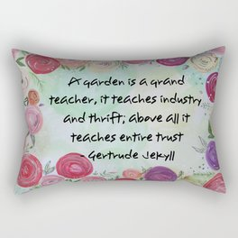 Floral Quote Rectangular Pillow
